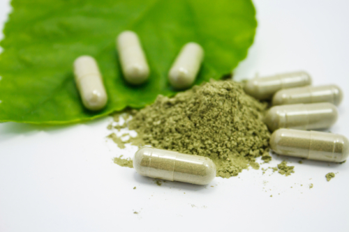 Green Veined Horned Leaf Maeng Da Kratom Capsules