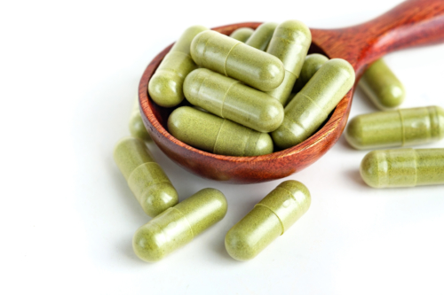 White Veined Malay Kratom Capsules